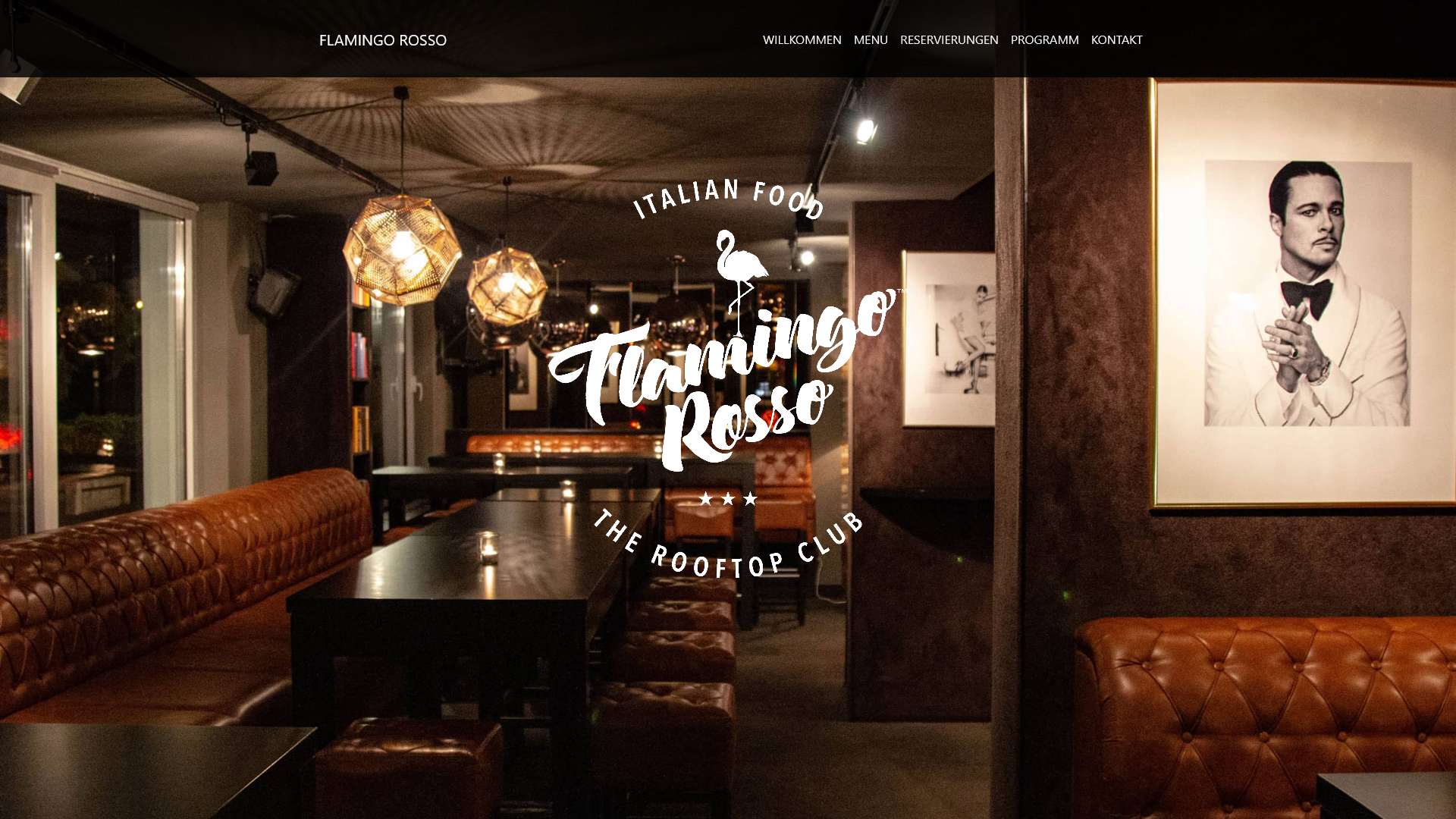 Landing Page - Flamingo Rosso